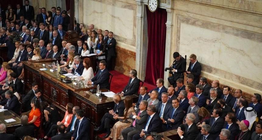 Jorge Capitanich acompañó la asunción de Alberto y Cristina