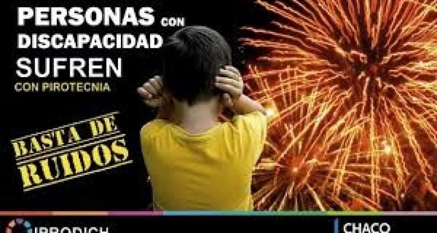 Implusan a celebrar las fiestas de fin de año sin pirotecnia para no afectar a personas con discapacidad